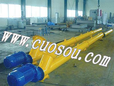 绞龙输送机结构特点:螺旋输送机旋转轴上焊有螺旋